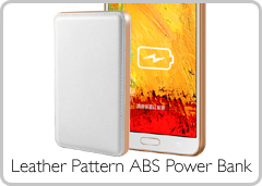Leather Pattern ABS Power Bank