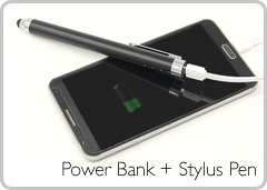 Power Bank + Stylus Pen