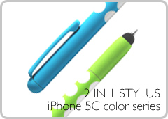 2 IN 1 STYLUS, iPhone 5C color series