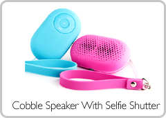 Cobble Speaker With Selfie Shutter
