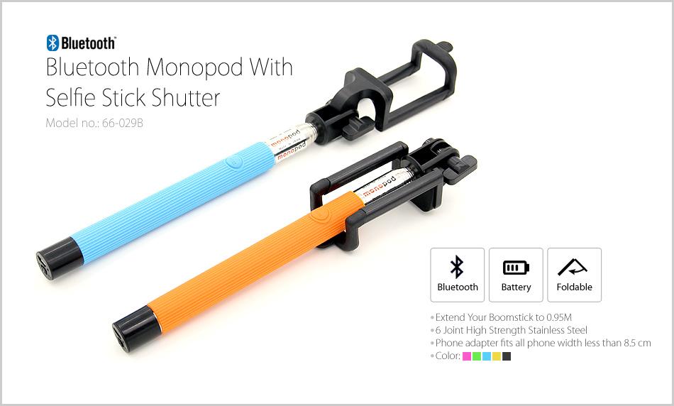monopod with selfie stick shutter series bluetooth monopod with selfie stick. Black Bedroom Furniture Sets. Home Design Ideas