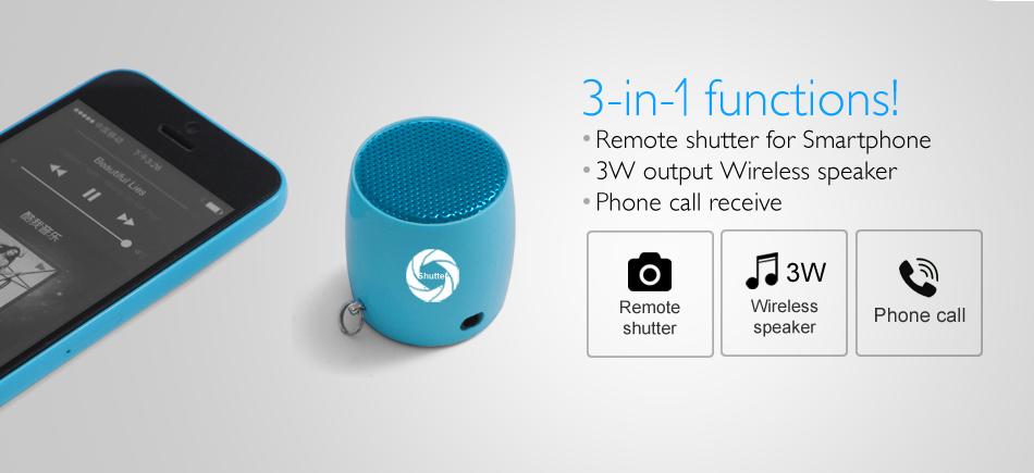 Bluetooth Selfie Mini Speaker 3 In 1 Functions Remote
