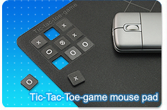 Tic-tac-toe game mouse pad